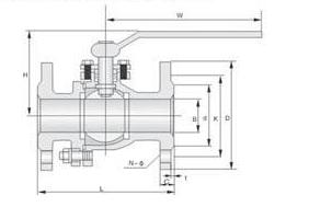 Q41F日标球阀结构图
